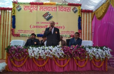 This image shows DM Bahraich Speech of Election Voters Day