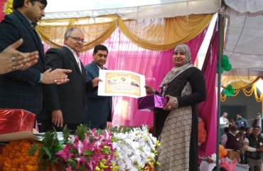 It is shows Certificate distributed by DM Bahraich image