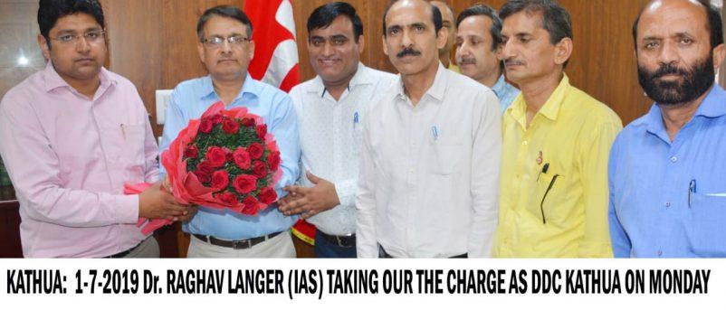 Raghav Langer Assumes Charge