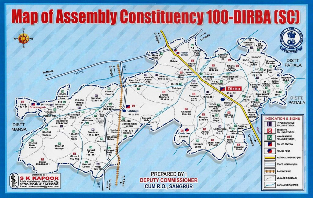 100-Dirba Assembly Constituency Map