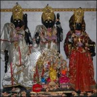 God and Goddess inside temple at chandapur