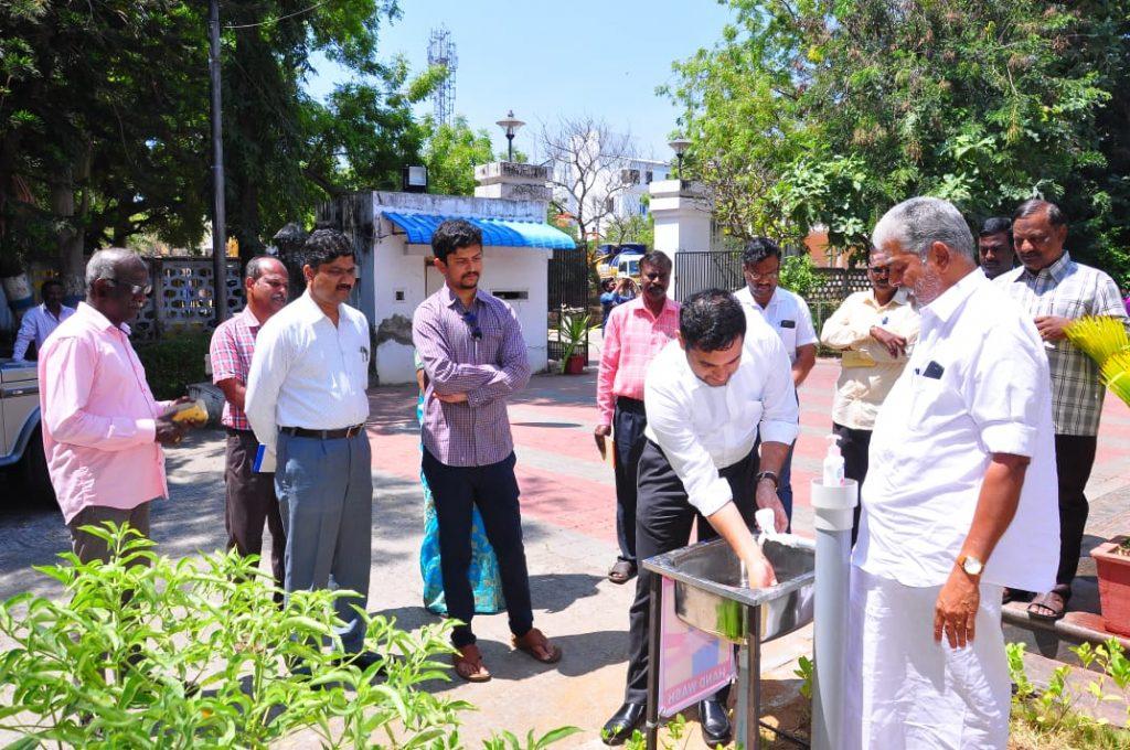 Inauguration of Hand washing facility