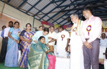 Hon'ble Dr.Lt.Governor honour the Physically Challenged Women at the function International Womens day Celebration 2018