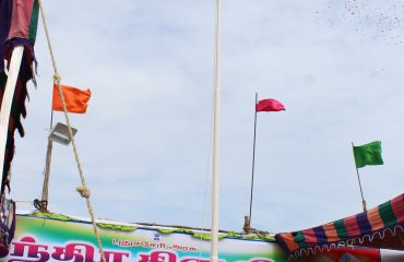 National flag was hoisted by the Agriculture Minister Mr.R.Kamalakannan