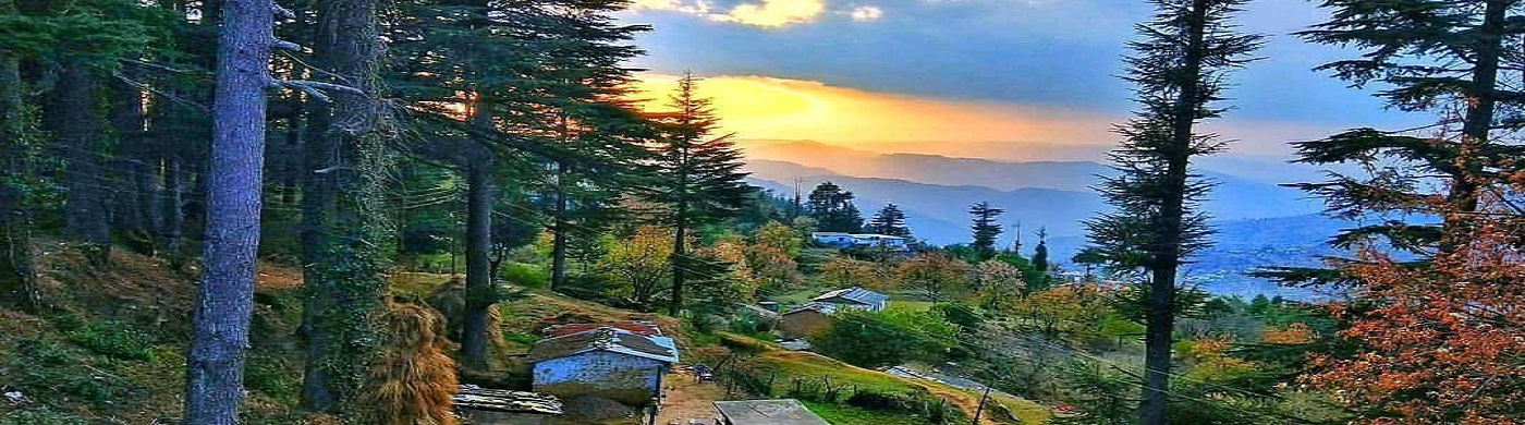 District Champawat Village sunset