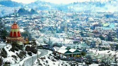 Champawat Snow fall