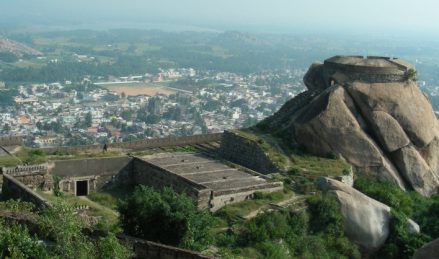 Madhugiri Fort Top View1