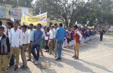 RALLY BY SCHOOL STUDENT on National Voters Day