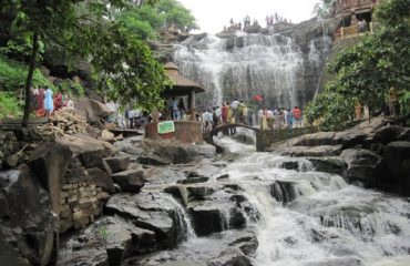 The attractive waterfall of Ghatarani Temple