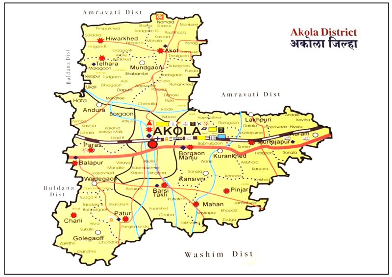 Akola District Map