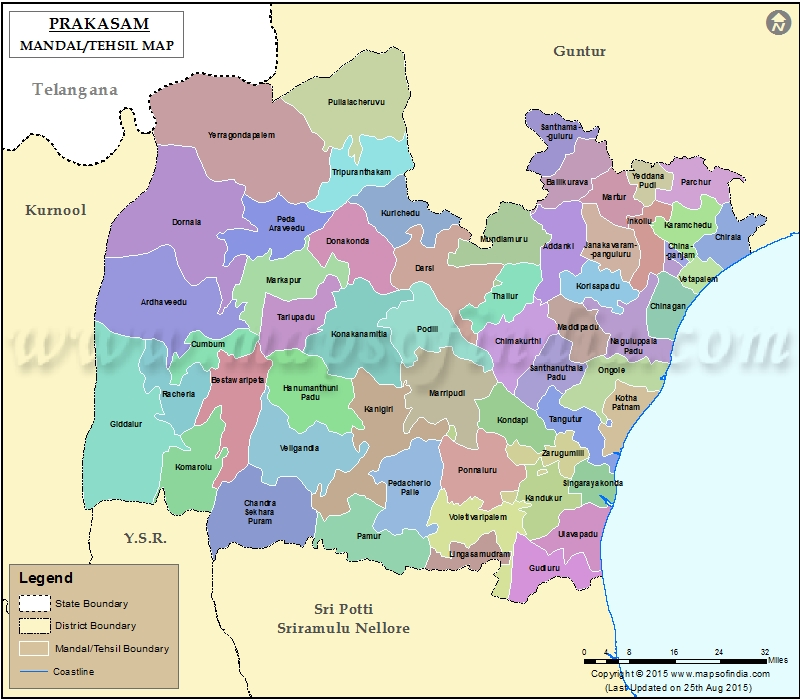 prakasam district map