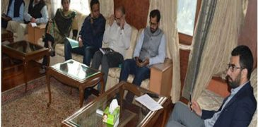 flood Review meeting by DC Srinagar
