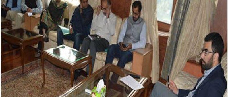 flood Review meeting by DC Srinagar