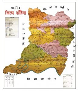 Auraiya Map