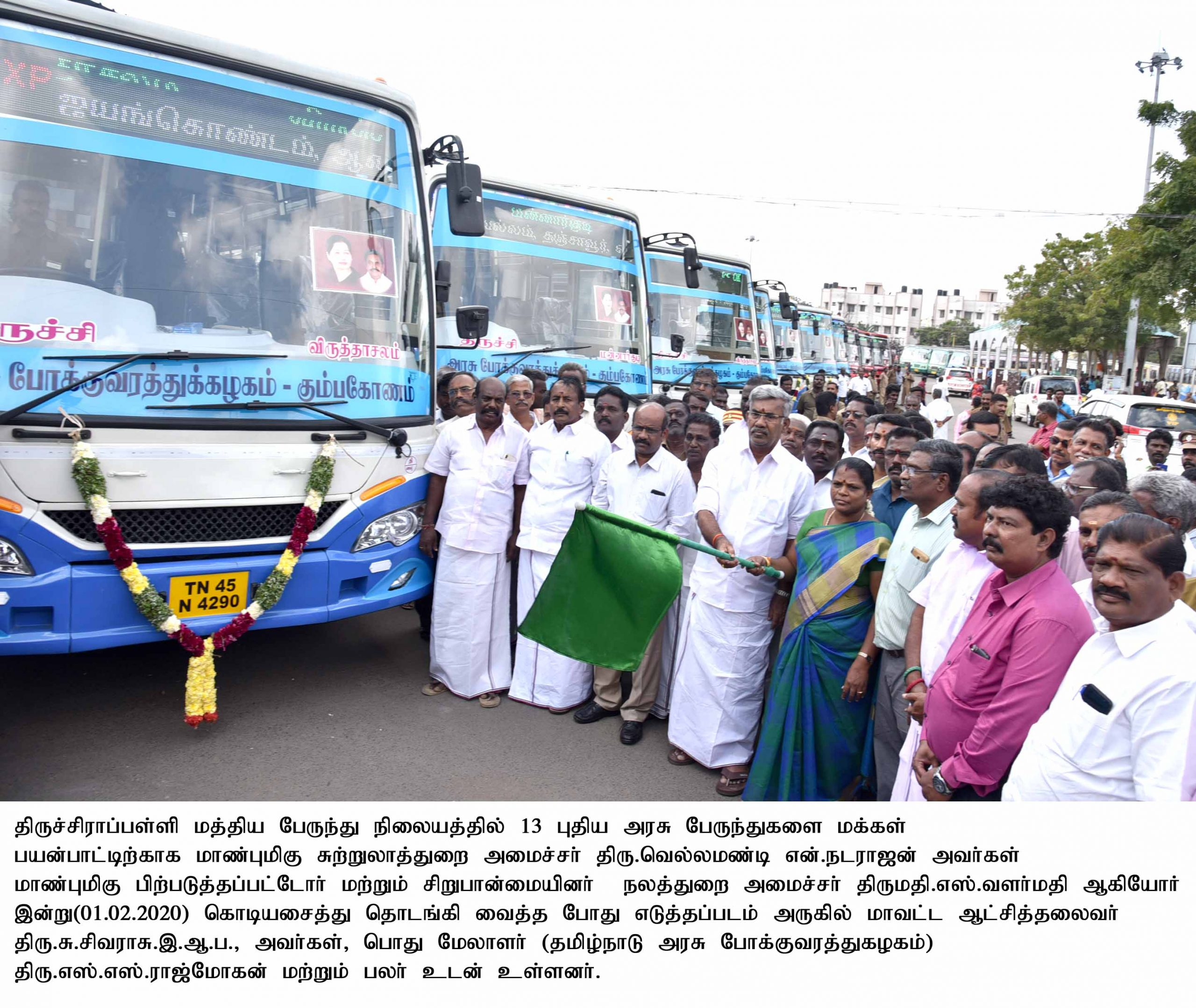 Honble Ministers Inaugurated the New Bus Services