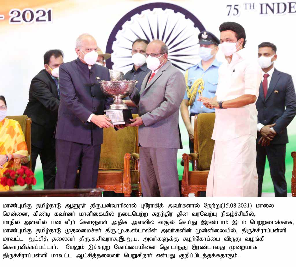 District Collector was Honoreds with Trophy Award