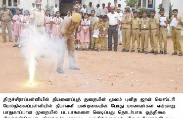 Mock Drill on Diwali safety precautions