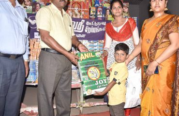 District Collector Inaugurated the Deepavali Crackers Sales at Amaravathi Co-op Society