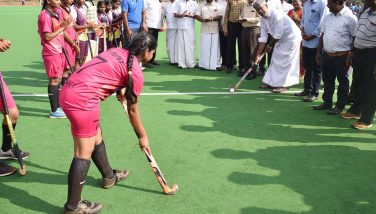 Hon'ble Minister inaugurated Hockey Tournament on 25-02-2020