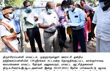 District Collector Inspected the Polling Stations on 02.03.2021