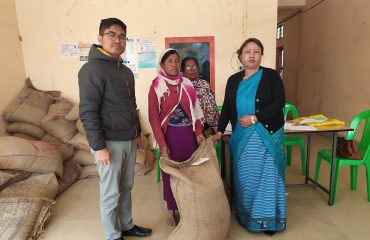 Rice Distribution at DC Office, Tengnoupal