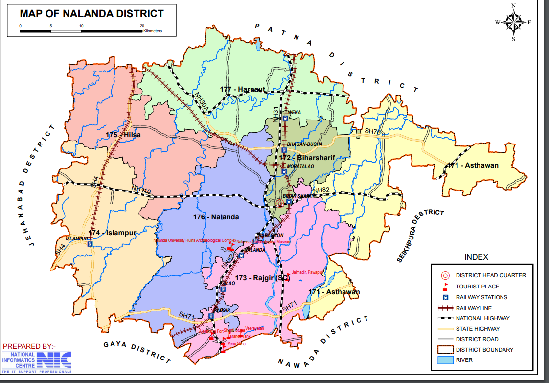 Map of District | Nalanda | India