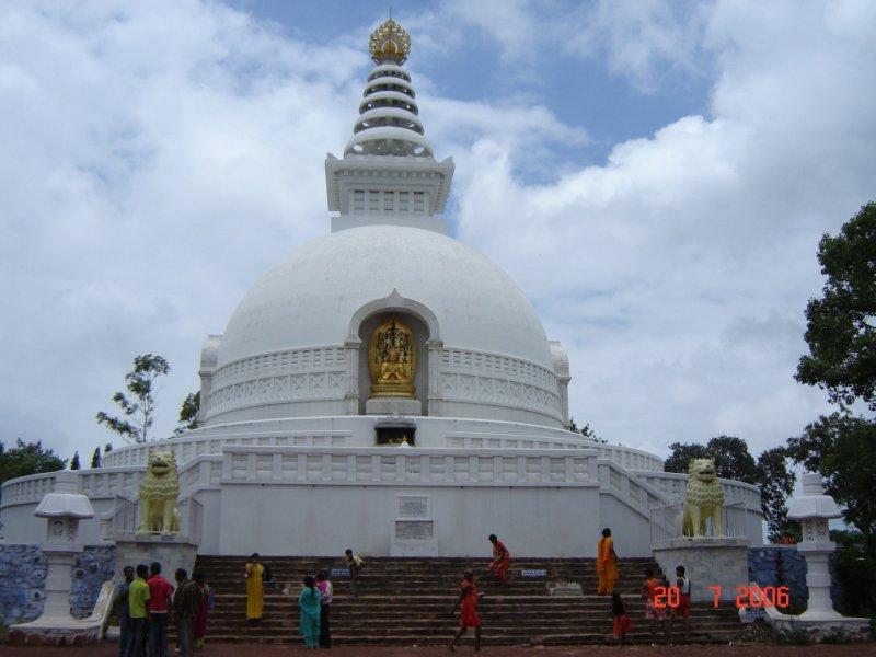 Vishva Shanti Stupa.