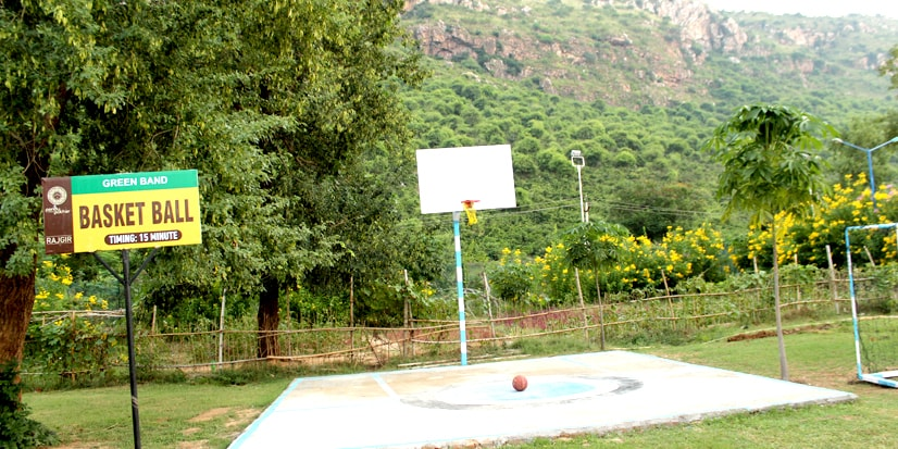 Basketball court in the park premises..