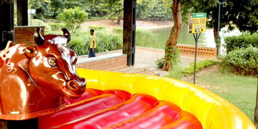 An artificial bull for bull ride game.