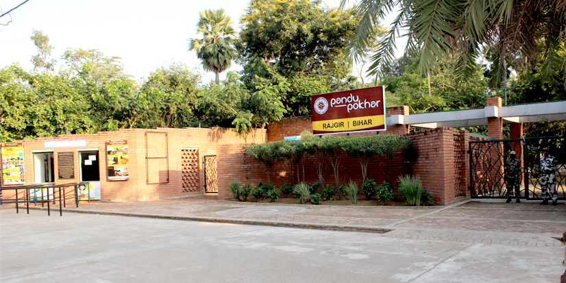 Entry gate and ticket counter of Pandu Pokhar.