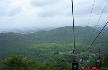 Ariel Ropeway of Rajgir. Way to vishva shanti stupa.