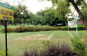 Volleyball court in the park premises