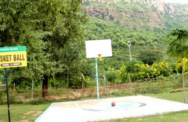 Basketball court in the park premises
