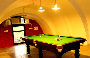 Pool table in the room