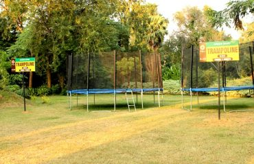 Arrangements for Trampoline in the outdoors