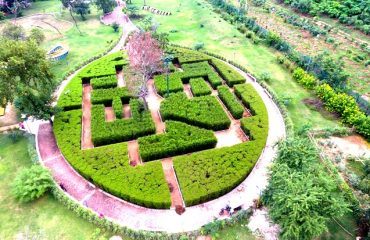 Top view of the park inside the premises of the Pandu Pokhar