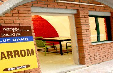 पाण्डु पोखर परिसर में कैरम खेलने का कमरा