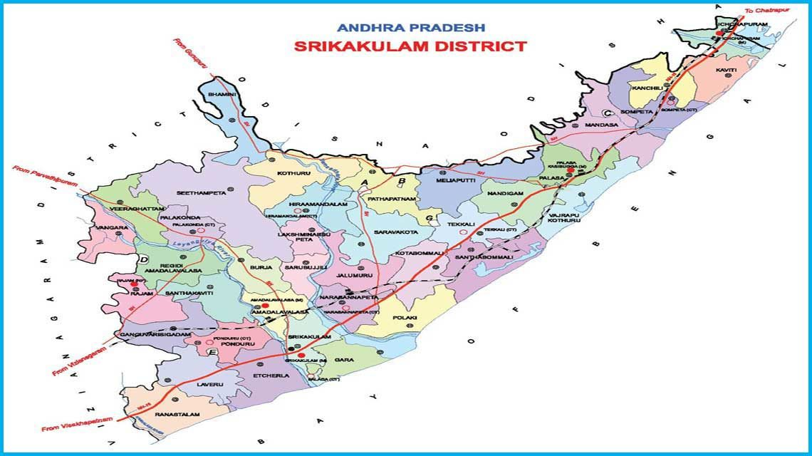 Srikakulam District Map