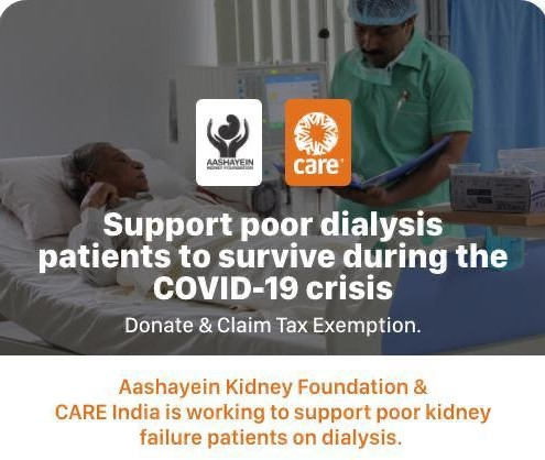 Support Poor Dialysis Patients to Survive During the Covid-19 Crisis