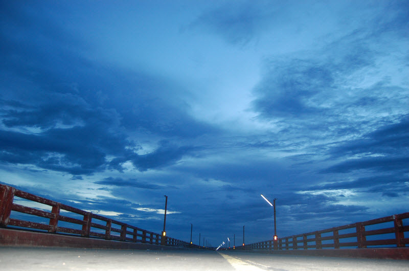 Pamban bridge - night view