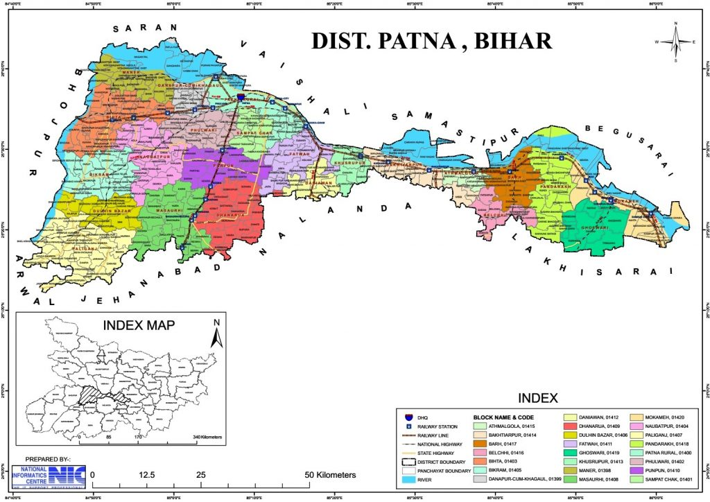 Patna District Map