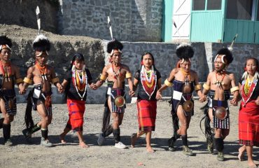chang tribal dancers during a feastival