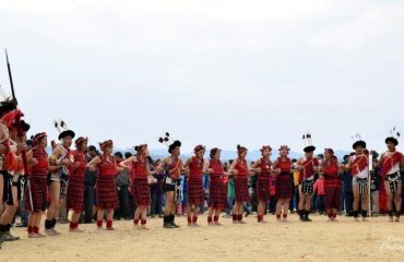 Sangtam tribals during a festival