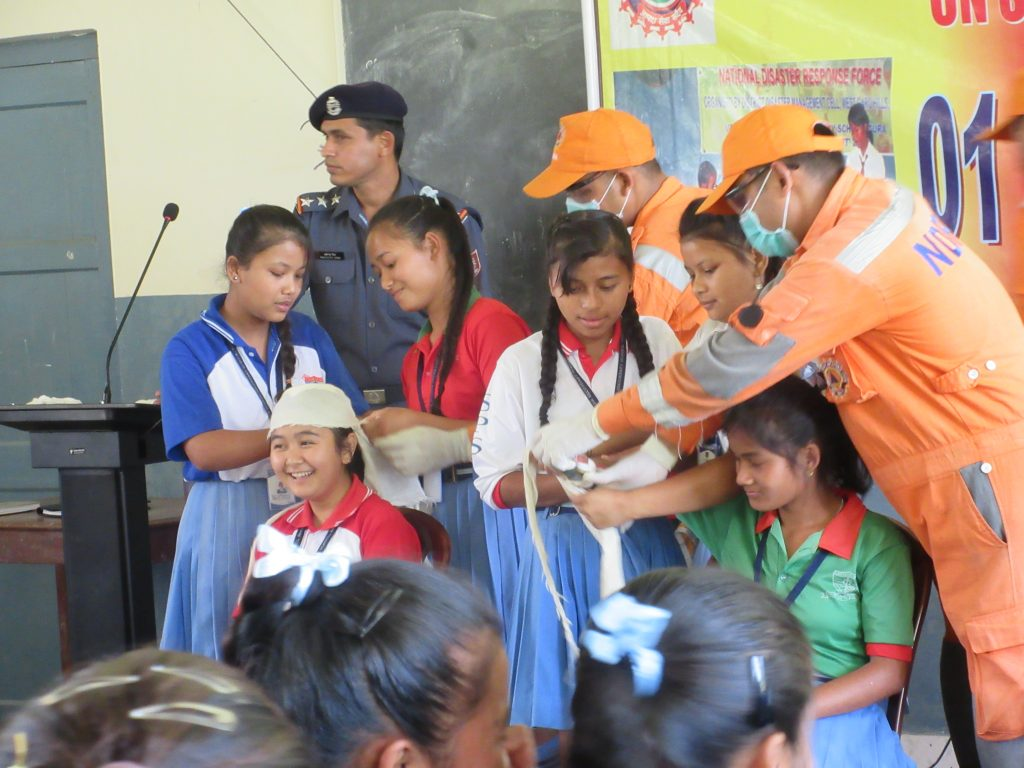 Training by NDRF for school children, DDMA