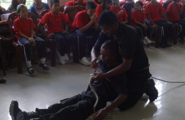 Training for on Search & Rescue for School Children, DDMA