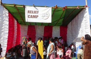 Relief Camp during Mock Drill, DDMA