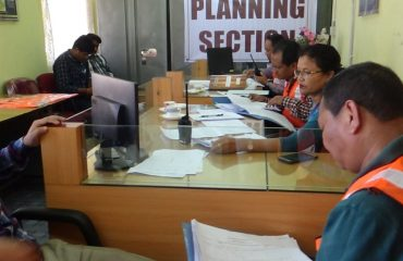 Planning Section during the drill on 31-10-2018, DDMA