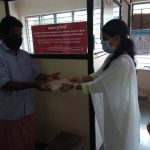 Taluk Industrial Office giving masks and sanitizer sponsored by AST MEDITECH, Olakettiyambalam 2020