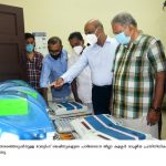 District Collector and Political Leaders inspecting the Voting machines 2021