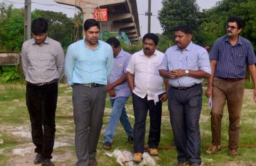District Collector Shri S Suhas Evaluating Alappuzha Bypass Construction at Kuthirapanthi